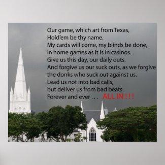 poker prayer poster