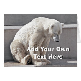 Polar Bear Add Your Own Text Card