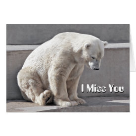 Polar Bear I Miss You Card