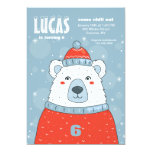 Polar Bear in Red Sweater Invitation