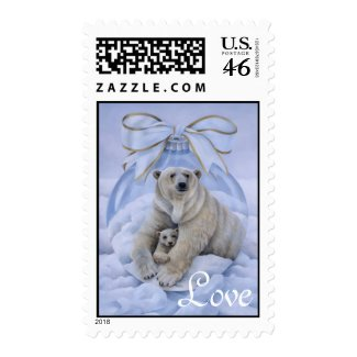 Polar Bear Love Stamp stamp