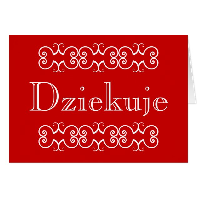 Polish Thank You Greeting Note Card Dziekuje Zazzle Com