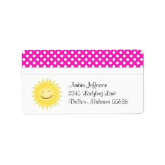 Polka Dot and Sunshine Address Labels