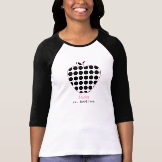Polka Dot Apple Teacher Tee Shirt
