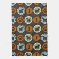 Paw Print Kitchen Towels | Zazzle