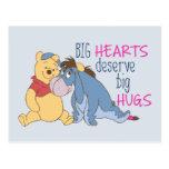 Pooh & Eeyore | Big Hearts Deserve Big Hugs Postcard