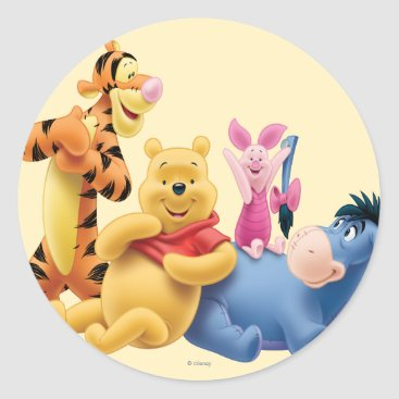 Pooh & Friends 10 Classic Round Sticker