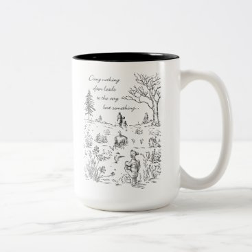 Pooh & Pals | The Very Best Something Quote Two-Tone Coffee Mug