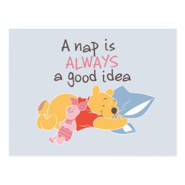 Pooh & Piglet | A Nap is Always a Good Idea Postcard