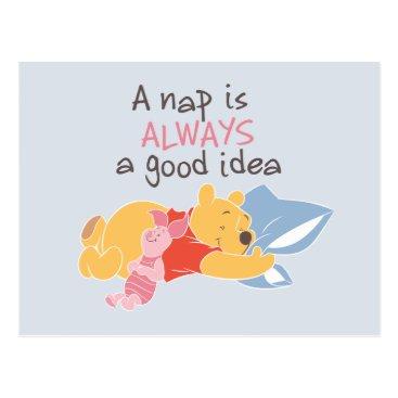 Pooh & Piglet | A Nap is Always a Good Idea Postcard