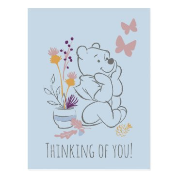 Pooh Sitting Thoughtfully Postcard