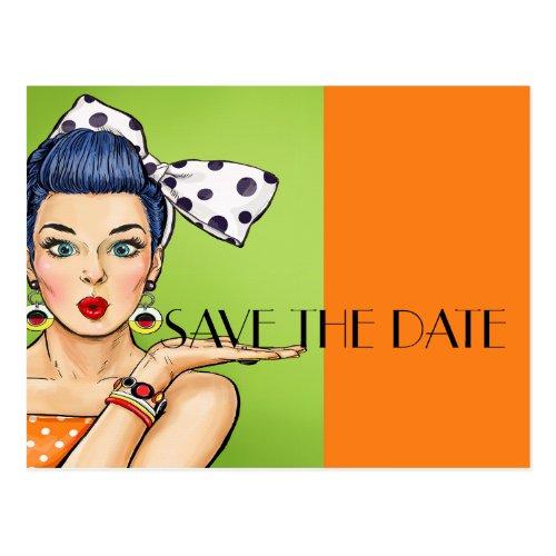 Pop Art SAVE THE DATE Postcard