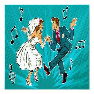 Pop Art Wedding Jitterbug Dancing Invitation