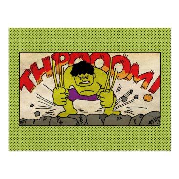 Pop Hulk Comic Strip Postcard