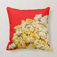 """Popcorn Pillow"" JTG Art Pillow | Zazzle"