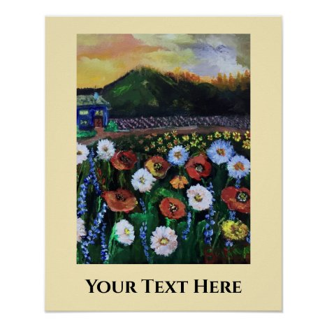 Poppies Daisies Print, Value Poster Paper (Matte)
