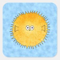Porcupine Fish. Square Sticker