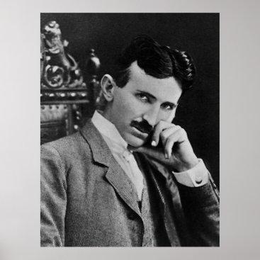 Portrait of Nikola Tesla Poster
