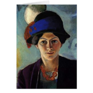 Portrait of the Artist's Wife by August Macke Card