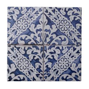 blue geometric pattern decorative