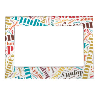 Word Cloud Magnetic Picture Frames   Zazzle