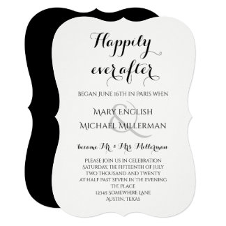 Post Wedding Reception Only Invitations Modern Calligraphy Nautical