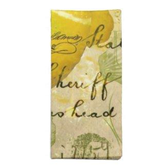 Postcard Lemons Napkin