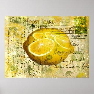 Postcard Lemons Print