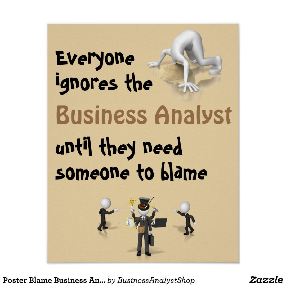 Poster Blame Business Analyst