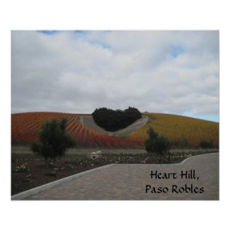 Poster: Heart Hill, Paso Robles, in Autumn
