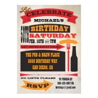 Poster Style 50th Birthday Celebration Invitation