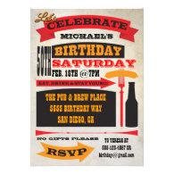 Poster Style 50th Birthday Celebration Invitation