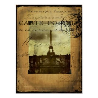 Postmarked Paris Poster