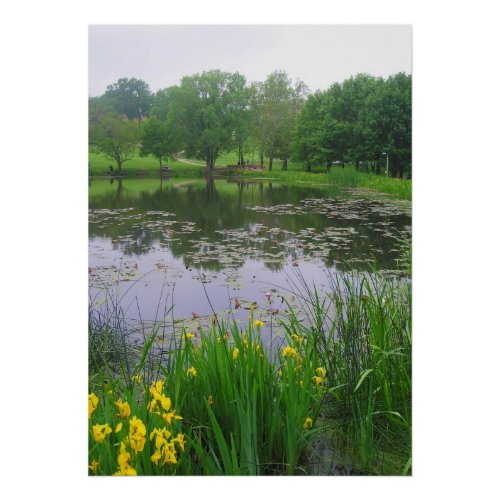 Potter Lake in Lawrence, Kansas print