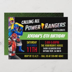 power rangers birthday invitations zazzle