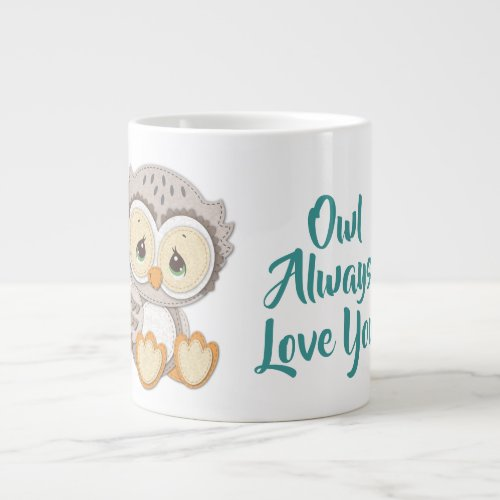 Precious Moments | Woodland Owl Always Love You Giant Coffee Mug
