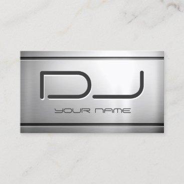 Premium Brushed Stainless Steel Metal - Music DJ Business Card