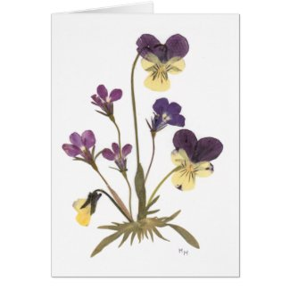 Pressed Flower Design Greeting Card