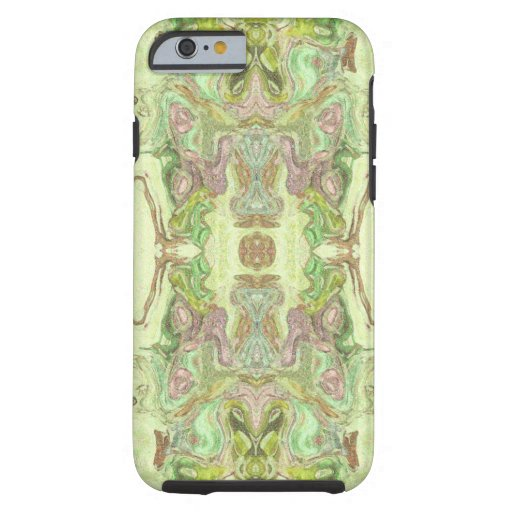 Pretty Abstract in Yellow, Lime, and Pink Tough iPhone 6 Case