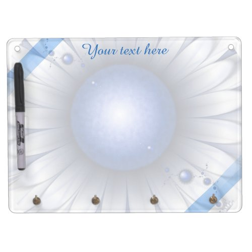 Pretty Blue Eyes Erase Board Key Holder Dry-Erase Whiteboards