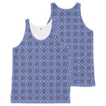 Pretty Blue Floral Pattern All-Over-Print Tank Top