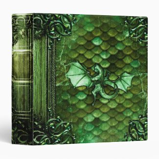 Pretty Dragon Scales Ancient Tome Magic Book Binder