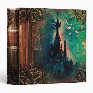 Pretty Fantasy Castle Ancient Tome Magic Book Binder