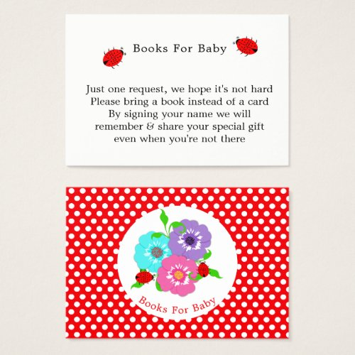 Pretty Flowers Ladybugs Cute Whimsy Books For Baby Business Card