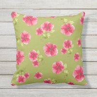 Pretty in Pink Outdoor Pillow | Zazzle