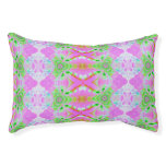 Pretty pink green jewel fractal pattern small dog bed