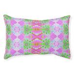 Pretty pink green jewel fractal pattern small dog bed