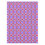Pretty Pink orange Abstract Pattern Design Tablecloth