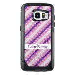 Pretty Pink Purple Pattern Design OtterBox Samsung Galaxy S7 Edge Case