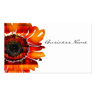 pretty vibrant fiery sunflower double sided standard business cards pack of 100